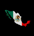 hanging mexico flag in form map united mexican vector image vector image