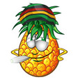 happy jamaican pineapple character cartoon vector image vector image