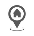 home map pointer icon simple vector image vector image