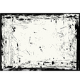 horizontal grungy frame vector image vector image