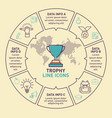infographic template of trophy design vector image vector image