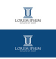 initial letter l s logo template with court icon vector image