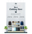 interior background of modern men clothing store vector image