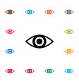 Isolated look icon eye element can be used