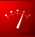 love meter valentines day card element in simple vector image vector image