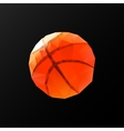 low poly pattern basketball on a black background vector image