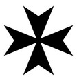 maltese cross icon black color flat style simple vector image vector image