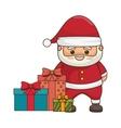 merry christmas santa claus kawaii character vector image