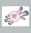 modern abstract shape 3d flower shape gradient 3d vector image vector image