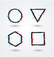 modern cyber glitch symbol retro 3d shapes set vector image vector image