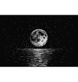 moon reflecting in a sea vector image vector image