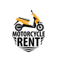 motorcycle logo for rent on vector image vector image