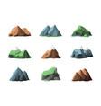 mountain elements snow mountains outdoor summer vector image