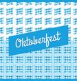 oktoberfest blue background germany vector image vector image