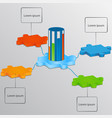 part puzzle with scale load elements vector image vector image