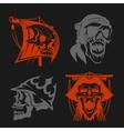 Pirate symbols - emblems set vector image vector image