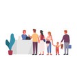 queue at reception flat vector image