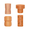 realistic detailed 3d wine bottle cork set vector image vector image