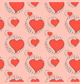 red heart pattern vector image