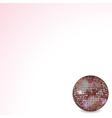 reflective disco ball pink vector image vector image