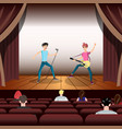 rock band concert guitar and musician on stage vector image vector image
