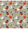 Seamless cartoon Halloween pattern Halloween vector image vector image