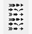 set arrows with sharp and rounded corner vector image