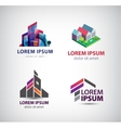 set of building houses city town logos vector image vector image