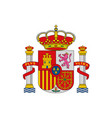 spanish shield isolated coat arm spain icon vector image vector image