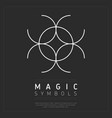 spiritual magic symbol on gray vector image vector image