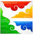 Stickers speech bubbles vector image vector image