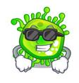 super cool cartoon microba virus bacteria in body vector image