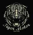tiger vintage vector image vector image