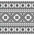 Traditional folk knitted black embroidery pattern vector image vector image
