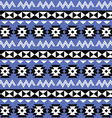 Tribal Aztec seamless pattern on purple background vector image vector image