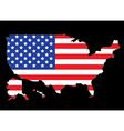 USA map outline with flag