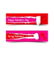 Valentines day banners set vector image vector image