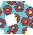 vintage vinyl music album seamless pattern vector image vector image
