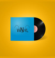 vintage vinyl record in a blue paper case vector image vector image