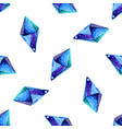 watercolor of diamond crystals vector image