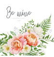 wedding invite greeting card floral modern design vector image vector image