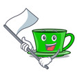 with flag green tea mascot cartoon vector image
