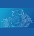 working tractor created of 3d vector image vector image