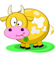 Yellow Cow vector image vector image