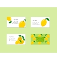 Business Cards with Ripe Juicy Lemon Fruit vector image