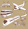 Traveling set with transport vector image