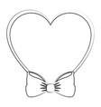 vintage bow tie vector image