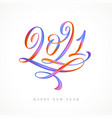 2021 multicolored calligraphy lettering logo vector image vector image