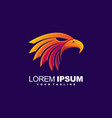 awesome eagle head logo design vector image vector image