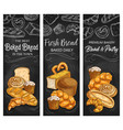 bakery bread patisserie buns sketch banners
